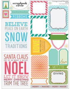 Free Christmas Printable for Project Life   [ One Velvet Morning ]