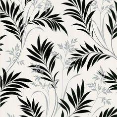 Midori White Bamboo Silhouette Wallpaper - Contemporary - Wallpaper - Brewster Home Fashions Asian Wallpaper, Botanical Wallpaper, Trendy Wallpaper, Of Wallpaper, Bathroom Wallpaper, Leaves Wallpaper, Bamboo Wallpaper, Iphone Wallpaper, Black And White Leaves