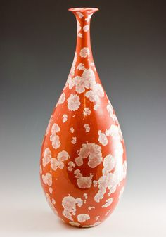 Marie Wright porcelain vase with Crystalline Glaze