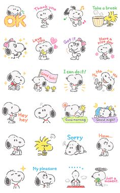 It's a new look for this always adorable beagle! Snoopy and friends get the crayon touch treatment in this animated sticker set. You'll love filling your chats with their cute moves and messages! Snoopy Love, Snoopy E Woodstock, Charlie Brown And Snoopy, Peanuts Snoopy, Snoopy Wallpaper, Cartoon Wallpaper, Doodles Bonitos, Snoopy Tattoo, Friend Tumblr