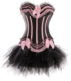 The corsage is on the side to close with hook and back laced. exclusive Corset with TUTU. A tutu skirt in tulle is included. Burlesque Corset, Pink Corset, Burlesque Costumes, Overbust Corset, Lace Corset, Corset Dresses, Burlesque Clothing, White Tutu Skirt, Gothic Fashion