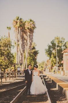 San Juan Capistrano wedding, photo by Yuna Leonard Photography http://ruffledblog.com/handcrafted-wedding-at-franciscan-gardens #weddingportraits