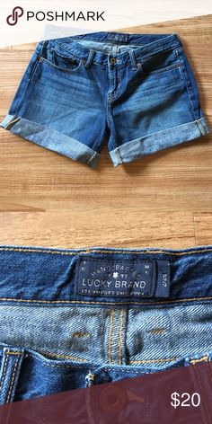 Lucky brand shorts Lucky Brand Jean shorts. Worn several times but in excellent condition. Size 2/26 but closer to a 6/28. Offers welcome! Lucky Brand Shorts Jean Shorts