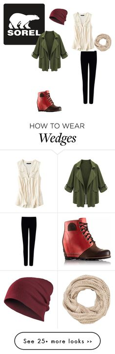 """The 1964 Premium Wedge from SOREL: Contest Entry"" by molleighderp on Polyvore featuring SOREL, Joseph, American Eagle Outfitters, maurices and sorelstyle"