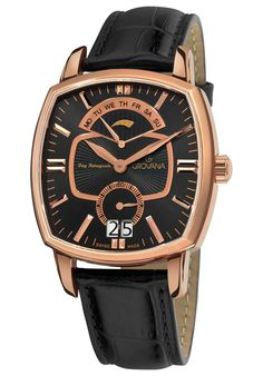 s ' Brass Metal, Mechanical Watch, Stainless Steel Case, Omega Watch, Watches For Men, Wrist Watches, Black Leather, Mens Fashion, Traditional