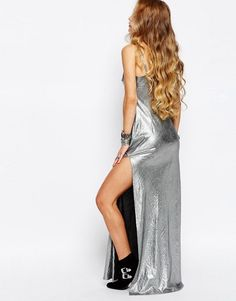 Reclaimed Vintage | Reclaimed Vintage Maxi Cami Dress In Festival Metallic