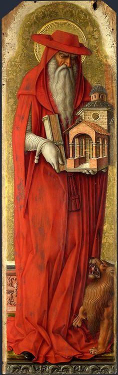 Carlo Crivelli - San Girolamo, pannello Polittico minore di San Domenico (o Polittico di san Pietro martire) - 1476 - Londra, National Gallery