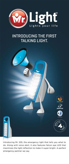 The talking emergency light from Mr.Light