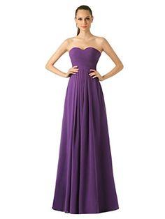 Remedios A-Line Chiffon Bridesmaid Dress Long Prom Evenin…