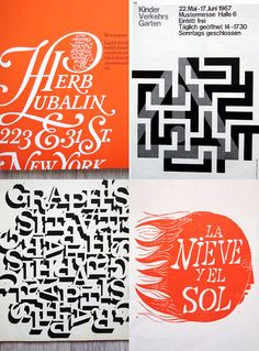 Various type designs by Herb Lubalin repinned by Awake — http://designedbyawake.com #typography #design #branding
