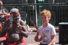 Kyle at Darling Harbor. #Sydney #TraintoSydney