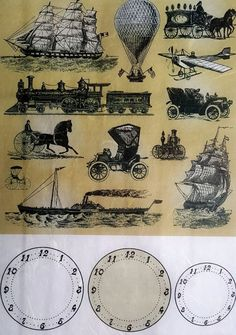 Rice Paper for Decoupage Scrapbooking Sheet Craft Vintage Cars / Ships / Travel