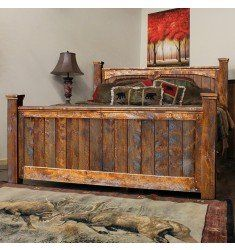 The Autumn Comfort Rustic Barnwood Bed will add a rugged flair to your contemporary home, log cabin, rustic lodge, or western ranch home. Rustic Bedroom Furniture, Rustic Bedding, Reclaimed Wood Furniture, Reclaimed Barn Wood, Industrial Furniture, Pallet Furniture, Rustic Wood, Home Furniture, Kitchen Furniture