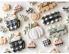 Fall Decorated Cookies, Fall Cookies, Spice Cookies, Cut Out Cookies, Pumpkin Cookies, Sugar Cookie Royal Icing, Sugar Cookies, Cookie Designs, Cookie Ideas