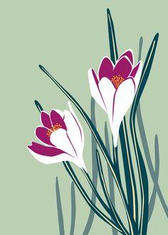 Crocus is the first spring messenger. Illustrator, Birds, Spring, Flowers, Animals, Animales, Animaux, Bird, Animal