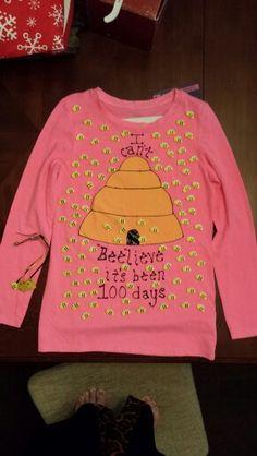 Bailey's 100 days of school shirt!  Can't beelieve it's been 100 days