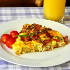 Bacon, Potato & Cheddar Frittata - lot's of possible ingredient add-in's could be used with this recipe....