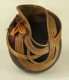 Embraced - Judy Richie - decorated gourds