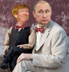 Donald Trump as Putin's puppet