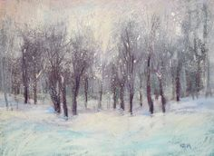 Painting my World: A Simple Technique for Painting Falling Snow with Pastels...demo