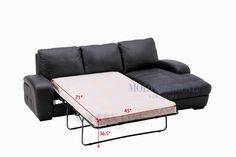 Modern furniture | Contemporary furniture | Nightclub Furniture | Designer Furniture | Indoor Collection | Sectional Sofas / Sleepers | Model TM-032 | FABRIC: Custom Color! Modern Fabric Sectional Sofa Sleeper