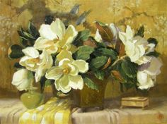 Alabaster Box and Magnolias  \\ Hope Reis is a contemporary artist, originally from Greenwich, Connecticut.