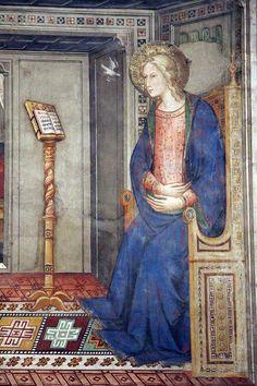 Pietro di Miniato - Annunciazione e altre storie di Gesù, dettaglio - 1390-1420 - controfacciata - Basilica di Santa Maria Novella.