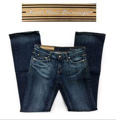 Womens Jean Paul Da'mage Designer Premium Denim Jeans  W25 x L31.5 #JeanPaulDamage #BootCutStraightLeg #LuxeCella