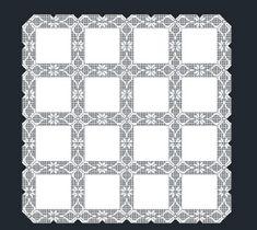 Mantel a GanchilloRef # M Crochet Blocks, Crochet Borders, Filet Crochet, Crochet Squares, Crochet Lace, Crochet Patterns, Sweet Dreams Baby, Crochet Tablecloth, Chrochet