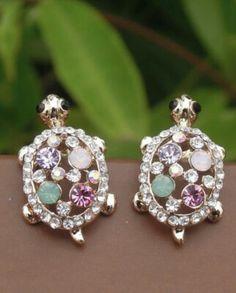 Delta Zeta - bling Turtle earrings