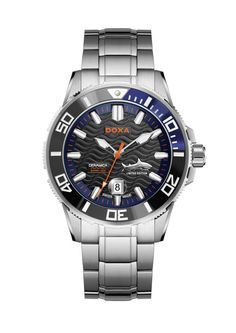 Doxa Active Into The Ocean Automatic Limited Edition Cool Watches, Watches For Men, Men's Watches, Sapphire Bracelet, Watch Faces, Casio Watch, Seiko, Vintage Watches, Luxury Watches