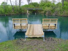 Here are some pictures of the perfect small pond dock.   This is Bernie Koch's stationary kicking back and relaxing dock. It is 5'x14' dock ...