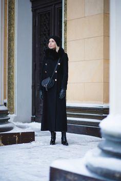 Maxi wool coat for winter / Andiata Fryda