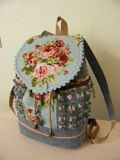 Denim Shabby Backpack