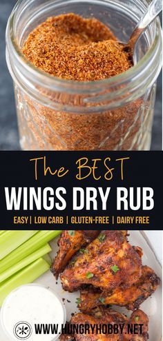 Chicken Wing Seasoning, Dry Rub Chicken Wings, Chicken Spices, Chicken Wing Recipes, Dry Rub For Wings, Oven Chicken, Chicken Ideas, Dry Rub Recipes, Air Fryer Recipes Easy