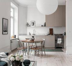 Interior Design Tips, Interior Decorating, Rustic Kitchen Design, Kitchen Designs, Kitchen Ideas, One Wall Kitchen, Boho Stil, Compact Living, Scandinavian Kitchen