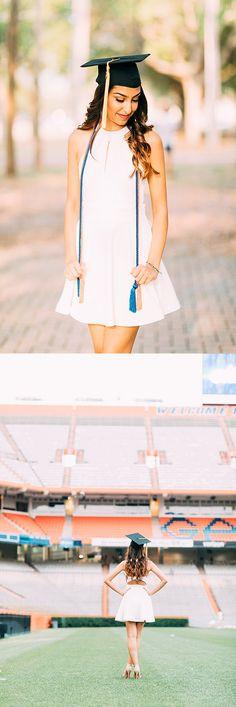 Graduation photo ideas, senior, graduation cap ideas, university of florida College Graduation Pictures, Graduation Picture Poses, Graduation Photoshoot, Grad Pics, Graduation Pose, Graduation Ideas, Cap And Gown Pictures, Gown Photos, University Of Florida