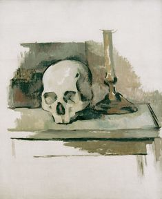 Still life with skull - Paul Cézanne as art print or hand painted oil.