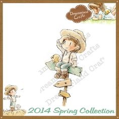 Dreamerland Crafts Cling Stamp - SPR14 Going My Way