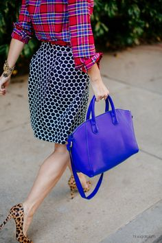 Hi Sugarplum | Work to Weekend Mixing patterns for work and weekend outfits