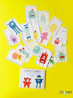 Quel est le plus grand monstre ? Dans ce jeu de bataille simplifié à imprimer, les enfants apprennent à identifier les petits, les grands et les moyens monstres rigolos ! Voici les règles et le jeu à imprimer juste ci-dessous.