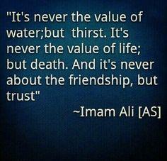 Islam saying words of wisdom Imam Ali a. Hazrat Ali Sayings, Imam Ali Quotes, Muslim Quotes, Religious Quotes, Quran Quotes, Wisdom Quotes, Life Quotes, Author Quotes, Allah Quotes
