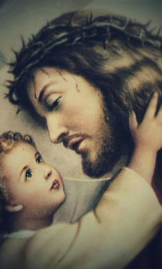 Jesus with young child Jesus And Mary Pictures, Pictures Of Jesus Christ, Religious Pictures, Mary And Jesus, Jesus Our Savior, Heart Of Jesus, Jesus Is Lord, Jesus Christ Painting, Jesus Art