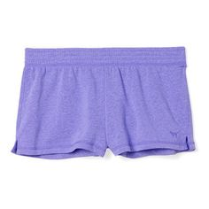 Victoria's Secret Fleece Short (50 BRL) ❤ liked on Polyvore featuring shorts, bottoms and purple