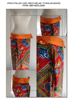 pantalon pecheur thai - free pdf tutorial / pattern