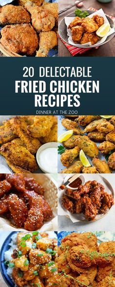 20 Delectable Fried Chicken Recipes - Dinner at the Zoo Low Carb Chicken Recipes, Turkey Recipes, Dinner Recipes, Healthy Cooking, Cooking Recipes, Fried Chicken Wings, Wing Recipes, Roll Ups, Yum Yum Chicken