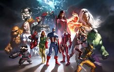 Marvel Heroes by Marko Djurdjevic