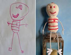 「children's drawings become stuffed toys」の画像検索結果