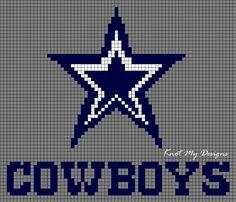 Crochet Blue Star Cowboys Grid Graph / Blue Star Cowboys Pixel Grid for blankets - Knot My Designs Graph Crochet, Easy Crochet Stitches, Afghan Crochet Patterns, C2c Crochet, Free Crochet, Dallas Cowboys Blanket, Dallas Cowboys Star, Football Quilt, Crochet Football