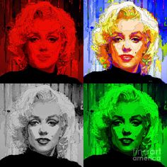 Marilyn Monroe - Quad. Pop Art Digital Art by Rafael Salazar